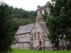 Church front betws-y-coed wales welsh uk