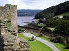 Conwy castle turret back view garden wales welsh uk
