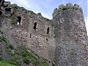 Conwy castle turret side view wales welsh uk