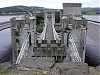 Road railway bridge at conwy castle front view wales welsh uk